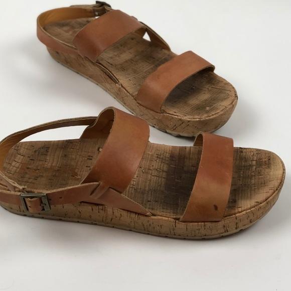 ff22ec0bc5e Kork-Ease Shoes - Kork-Ease Korks Janine Flatform Sz 7 Tan Leather